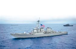 美艦通過台灣海峽 今年第8次