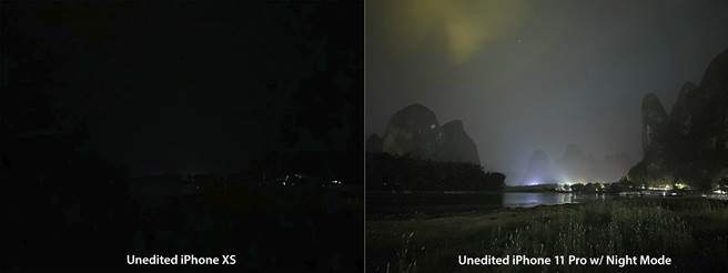 iPhone XS與iPhone 11 Pro夜景模式對比。(Credit: © Austin Mann,Instagram: @austinmann )