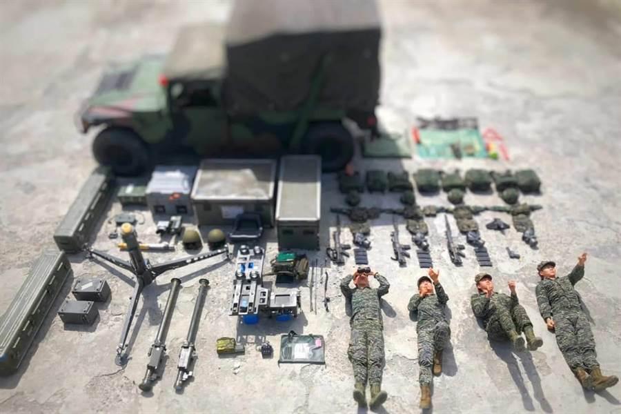 陸戰隊防空部隊開箱。海軍陸戰隊臉書