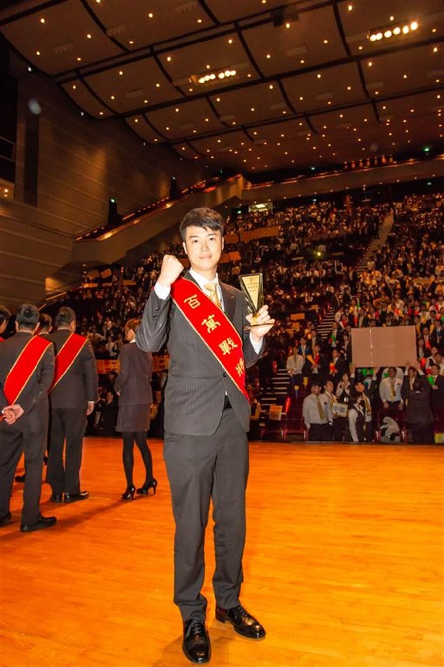 林秉璋今年獲得月例會冠軍。/永慶房屋提供