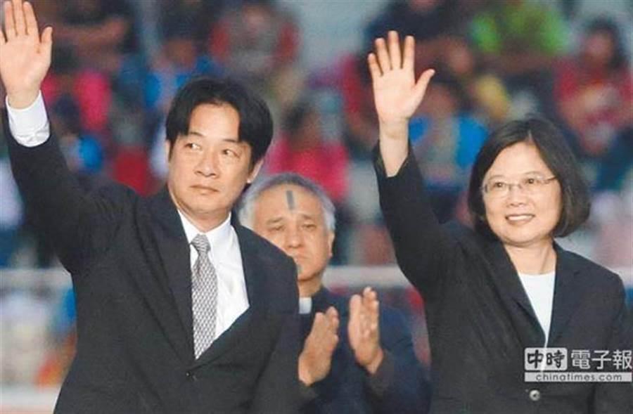 前行政院长赖清德(图左)、蔡英文总统(图右)。(图为中时资料照)