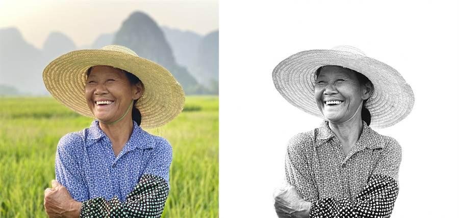 iPhone 11 Pro人像模式(左),透過高色調燈光黑白模式調整後(右)可以快速獲得去背人物黑白照。(Credit: © Austin Mann,Instagram: @austinmann )