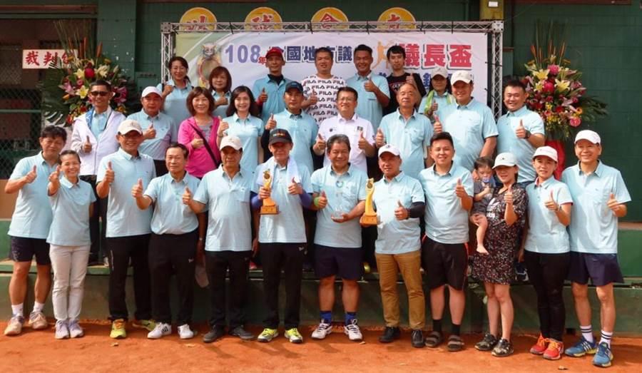 全國地方議會議長杯網球賽今年在嘉義舉行,臺南市議會代表隊今年拿下大滿貫成績