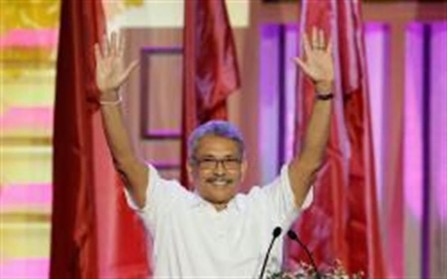 斯里蘭卡總統大選呼聲最高的候選人戈塔巴耶.拉賈帕克薩。(路透)