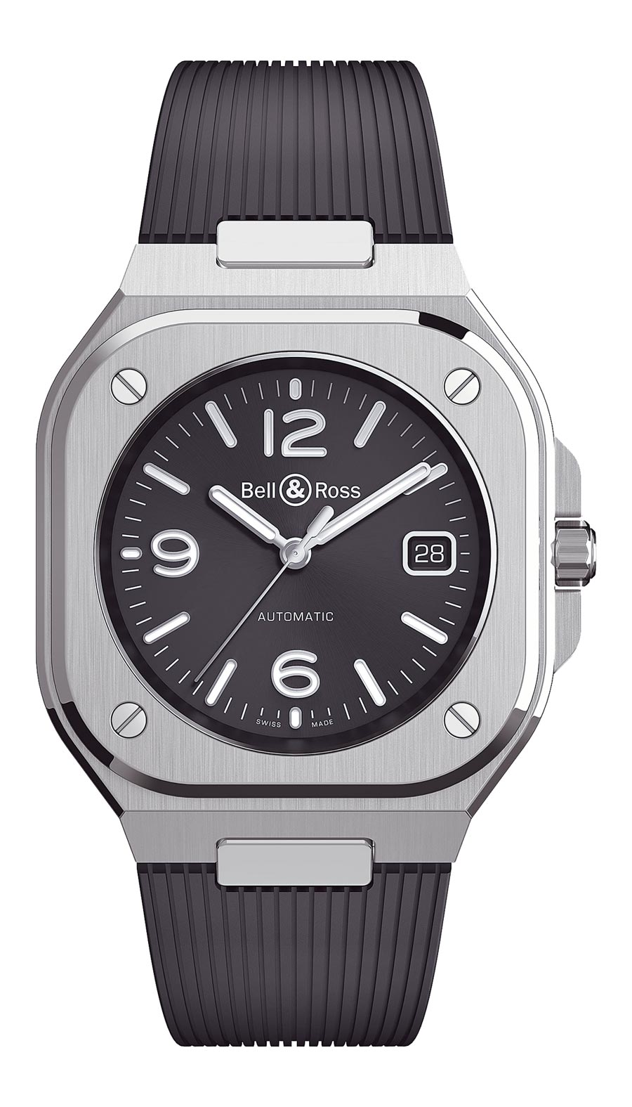 Bell & Ross年度力作BR05不鏽鋼腕表,14萬9000元。(Bell & Ross提供)