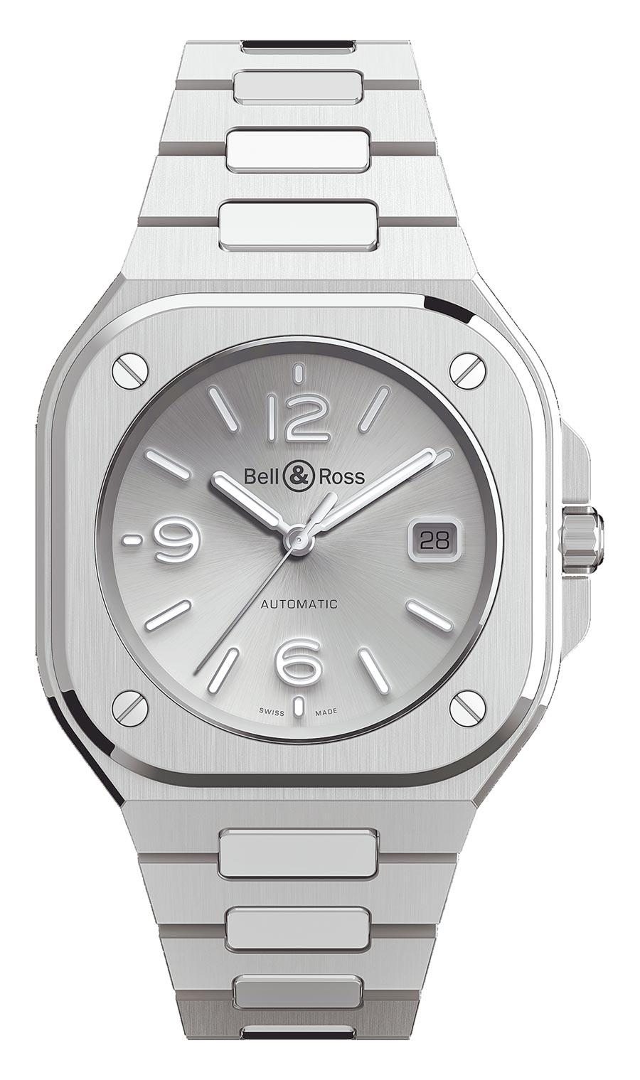 Bell & Ross年度力作BR05不鏽鋼灰色表盤腕表,16萬8000元。(Bell & Ross提供)