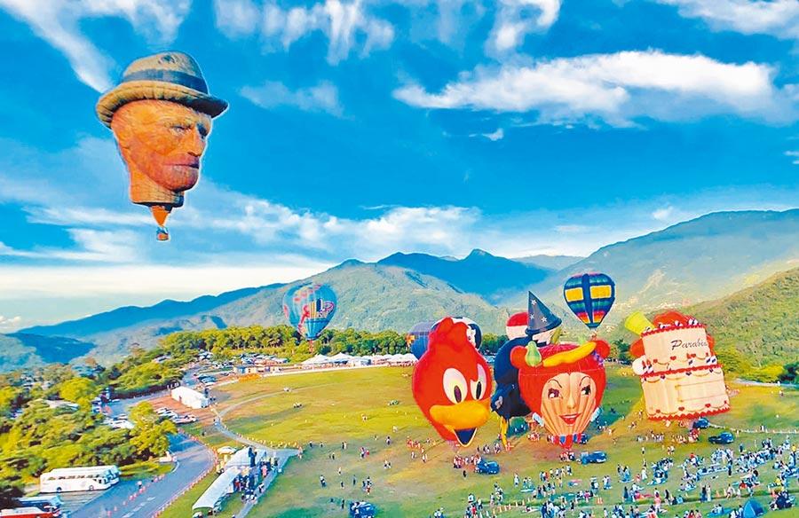 2019台東鹿野高台的熱氣球嘉年華。(台東縣政府提供)