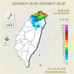塔巴颱風今最接近 北部、東北部有大豪雨