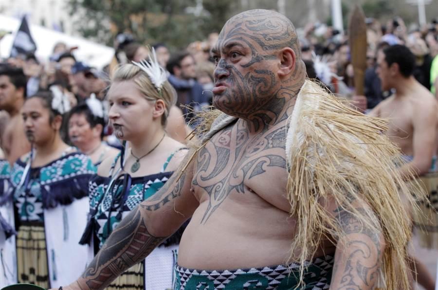 毛利人勇士聲援紐西蘭橄欖球代表隊。(美聯社資料照)