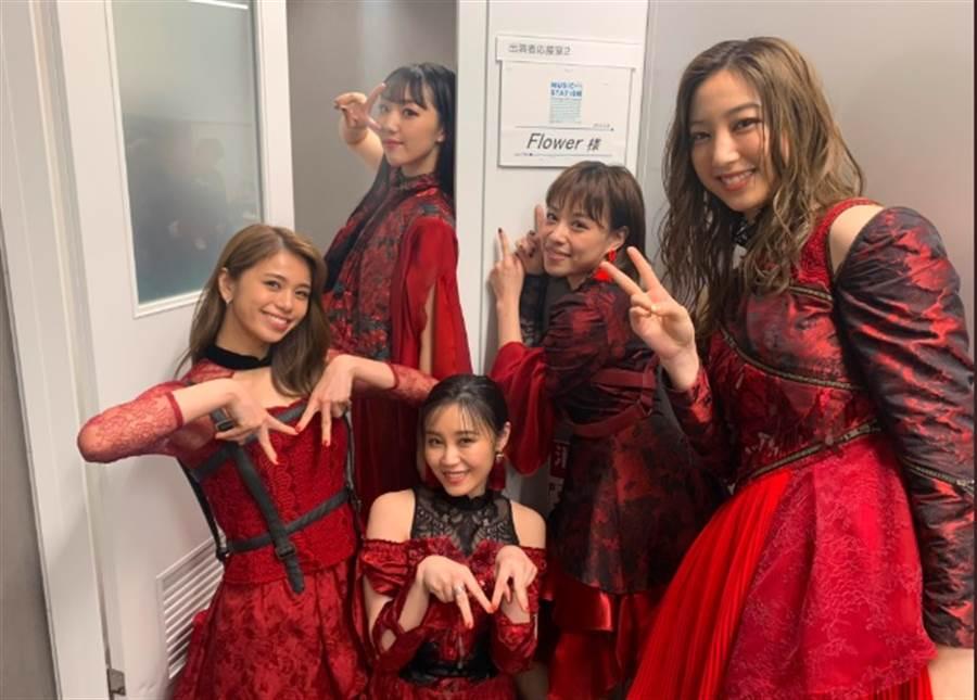 日本女團「Flower」。(圖/翻攝自推特)