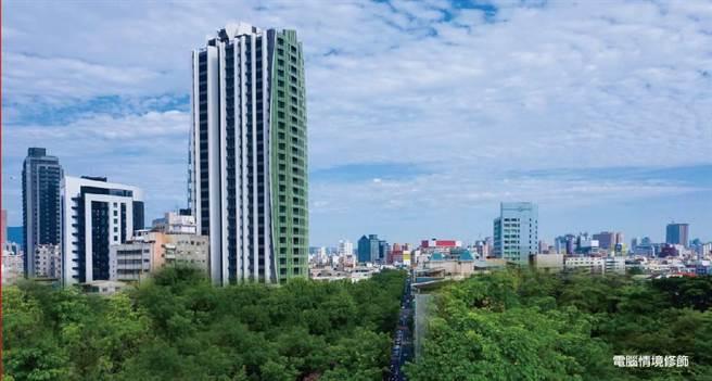 高雄首件都更建案「逸文苑」近日公開,從42年的老舊建物活化翻新。(翻攝畫面/柯宗緯高雄傳真)