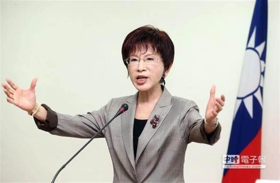 國民黨前主席洪秀柱。(中時資料照片)