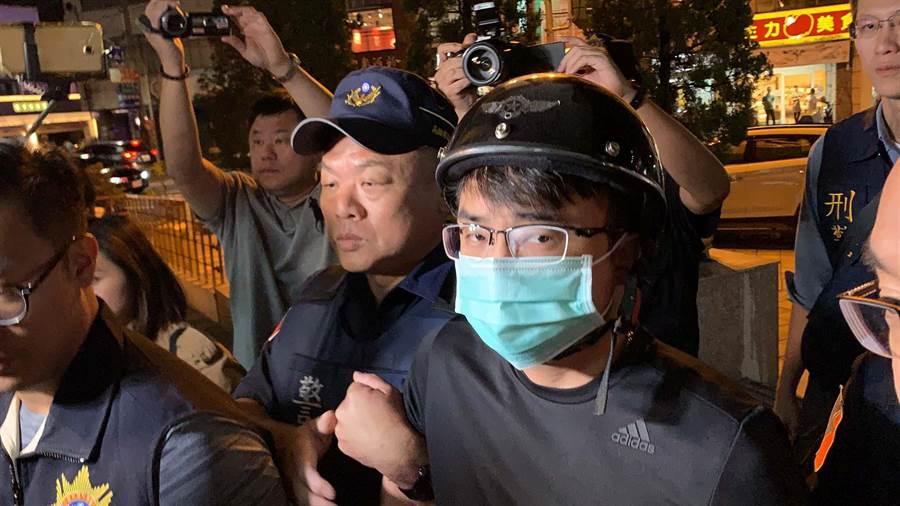 連千毅的仇家鄭又仁昨晚也被逮。(柯宗緯攝)
