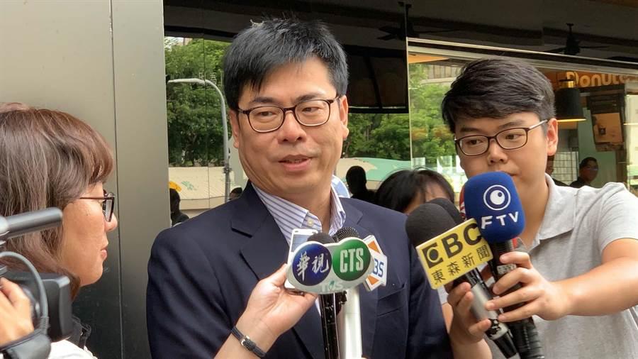 行政院副院長陳其邁今天回批高雄市長韓國瑜市政表現,可以用「一事無成打爆」。(本報資料照/柯宗緯攝)