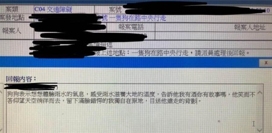 狗擋路警妙回「你有故事嗎」超鬧(圖/摘自臉書《爆廢公社》)