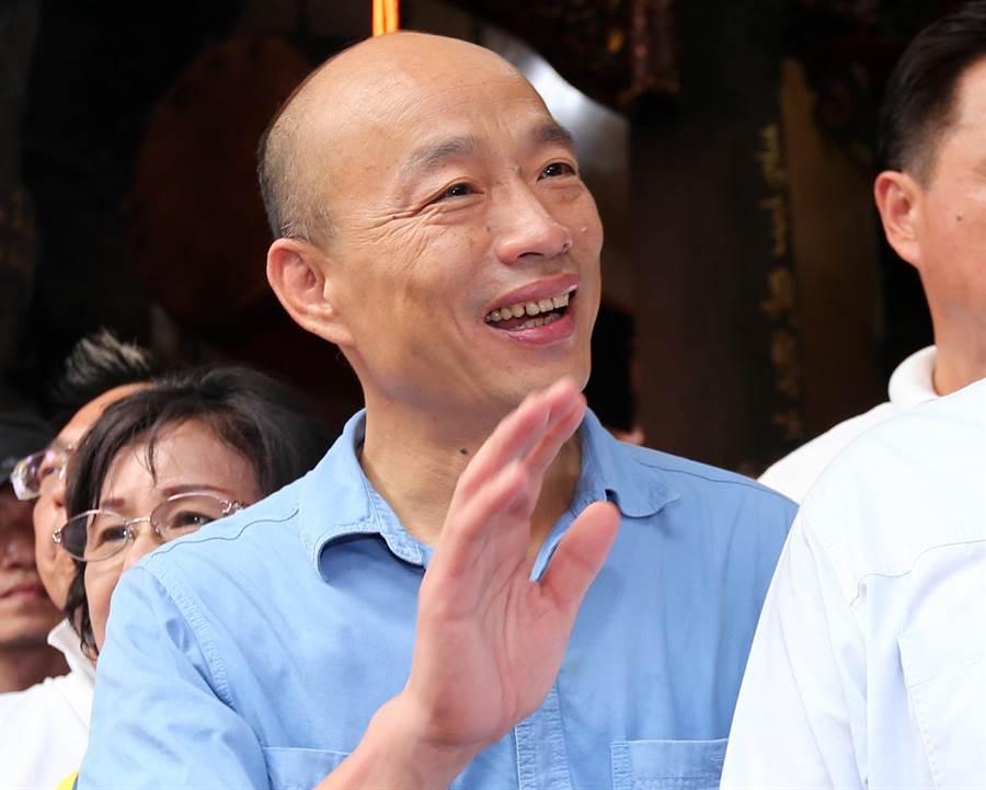 國民黨總統參選人、高雄市長韓國瑜。(資料照,黃世麒攝)
