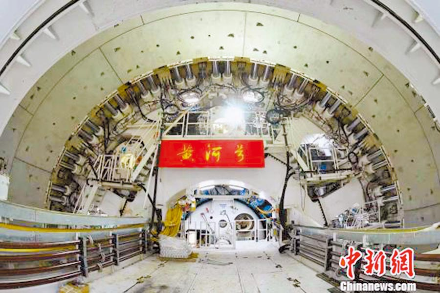 「萬里黃河第一隧工程」位於濟南城市中軸線上,隧道長將達4760公尺。(取自中新網)