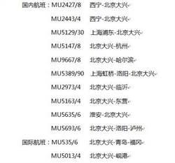 超級機場 東航首批22班北京大興航班機票開售