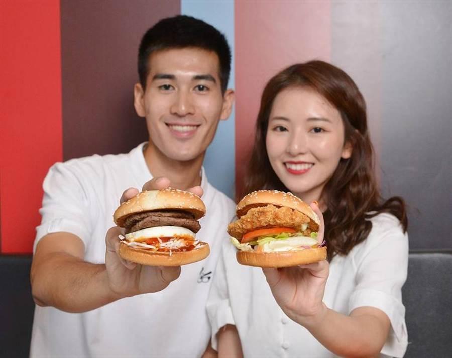 麥當勞為進一步開拓年輕客源 ,全新推出日本與韓國口味的漢堡。(台灣麥當勞提供/姚舜傳真)