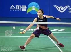 重返世界球后 戴資穎韓國賽首輪奪勝慶祝