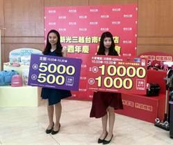 新光三越台南中山店十月三日率先引爆台南百貨業週年慶大戰