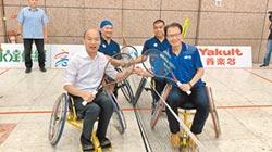 輪椅網球賽暖場 韓上場打氣