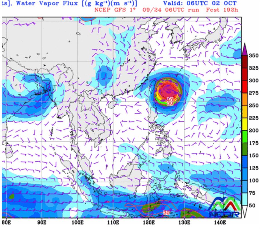 吳德榮指出,周日台灣東方海面上將有低壓擾動發展,離台灣很近,若成颱將是第18號颱風「米塔」。(翻攝自 NCDR)