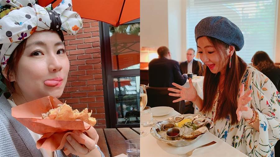 Selina在紐約大吃大喝身材依舊不走樣。(圖/FB@任家萱 Selina)
