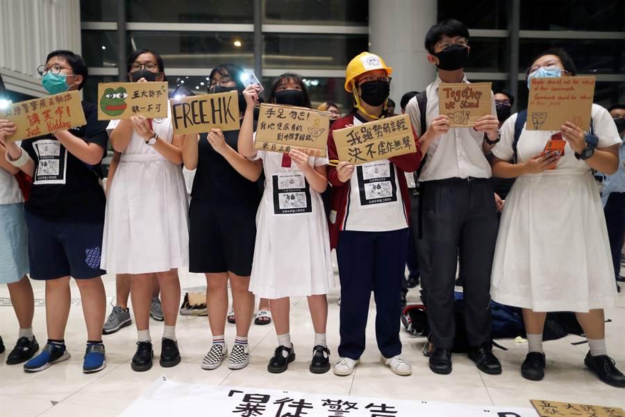 從今天起至「十一」國慶,香港反送中示威群眾天天都有活動。(圖/路透)