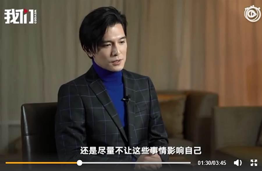 邱澤去年接受陸媒專訪。(圖/翻攝自秒拍)