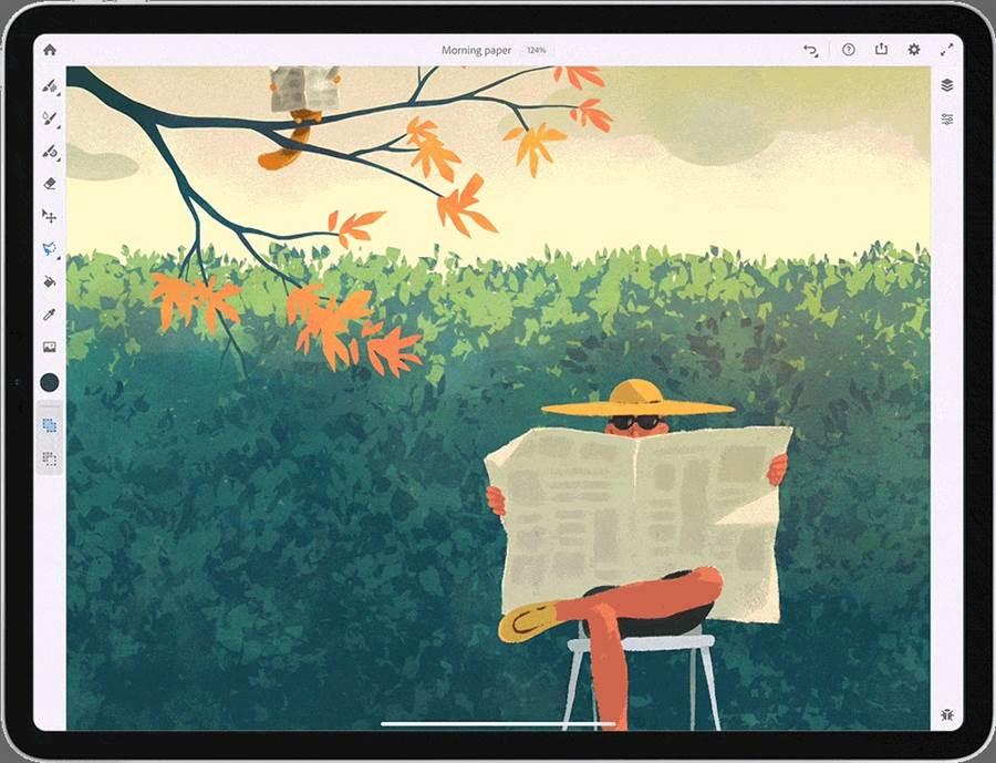 Adobe Fresco應用範例之一。(摘自Adobe官網)