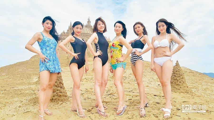 圖為先前福隆海水浴場的復古泳裝秀,與本文無關。(曾百村攝)