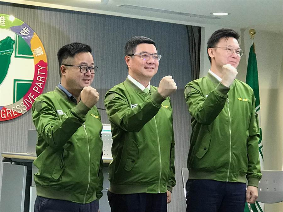 香港929上街頭,民進黨主席率隊出席。(曾薏蘋攝)