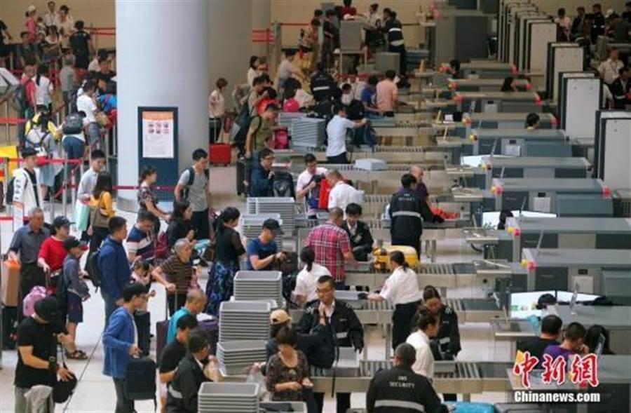 圖為高鐵香港西九龍站。(照片取自中新網)