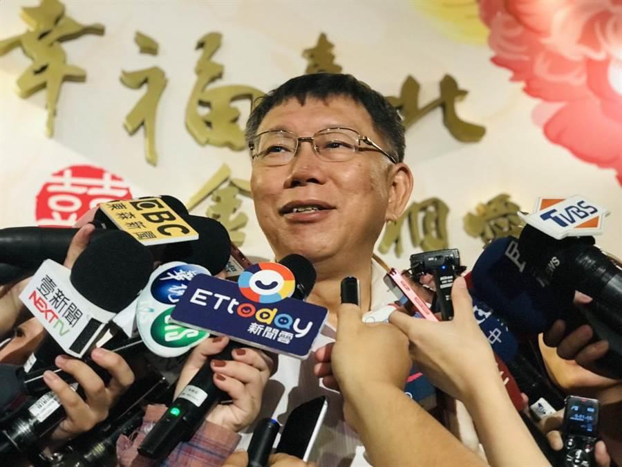 台北市長柯文哲酸蔡英文總統連任會讓人民日子苦一點,且台灣變成全世界最獨立的國家,因為沒有邦交國。(張穎齊攝)