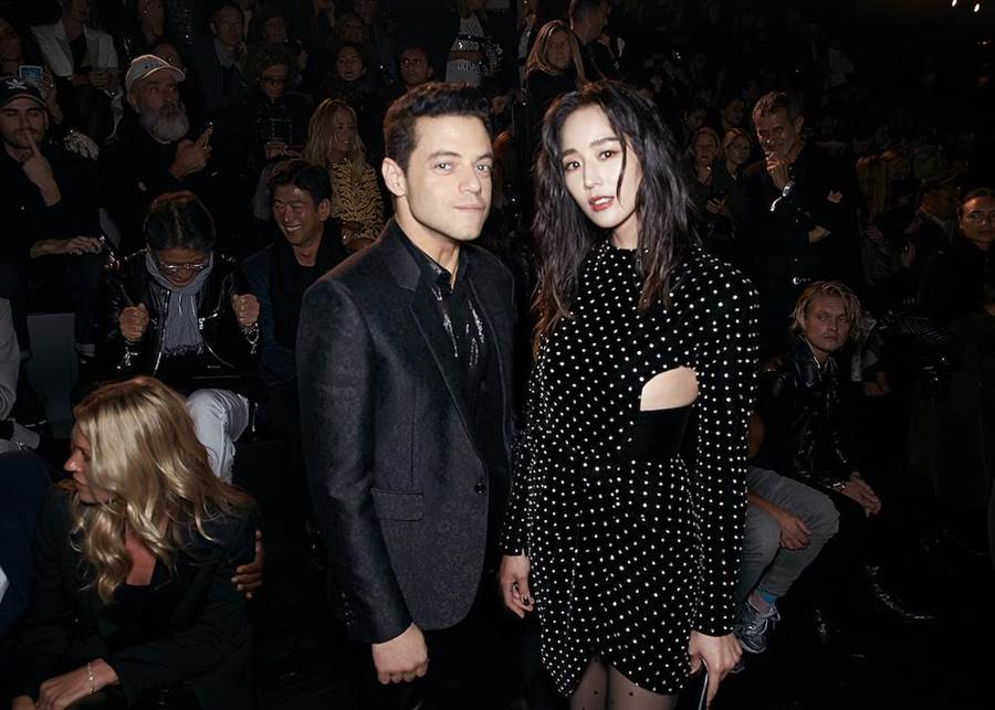 張鈞甯(右)與雷米馬列克。(SAINT LAURENT提供)