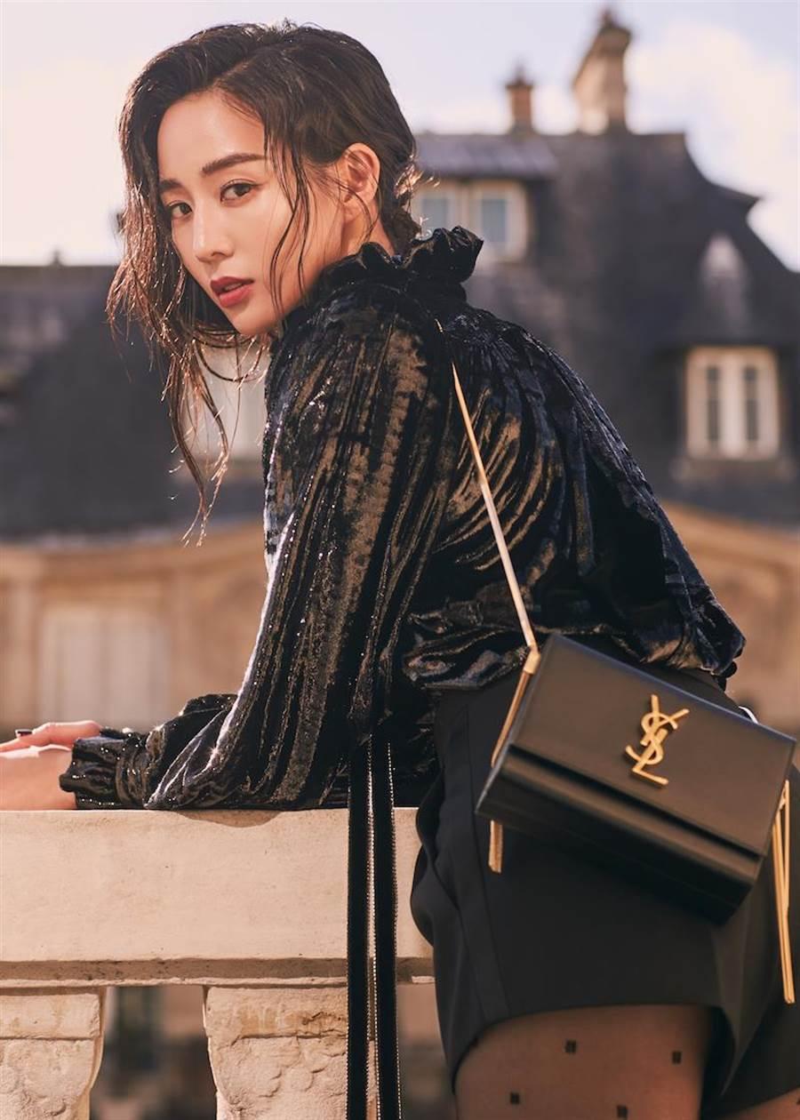 張鈞甯在巴黎參加時裝周。(SAINT LAURENT提供)