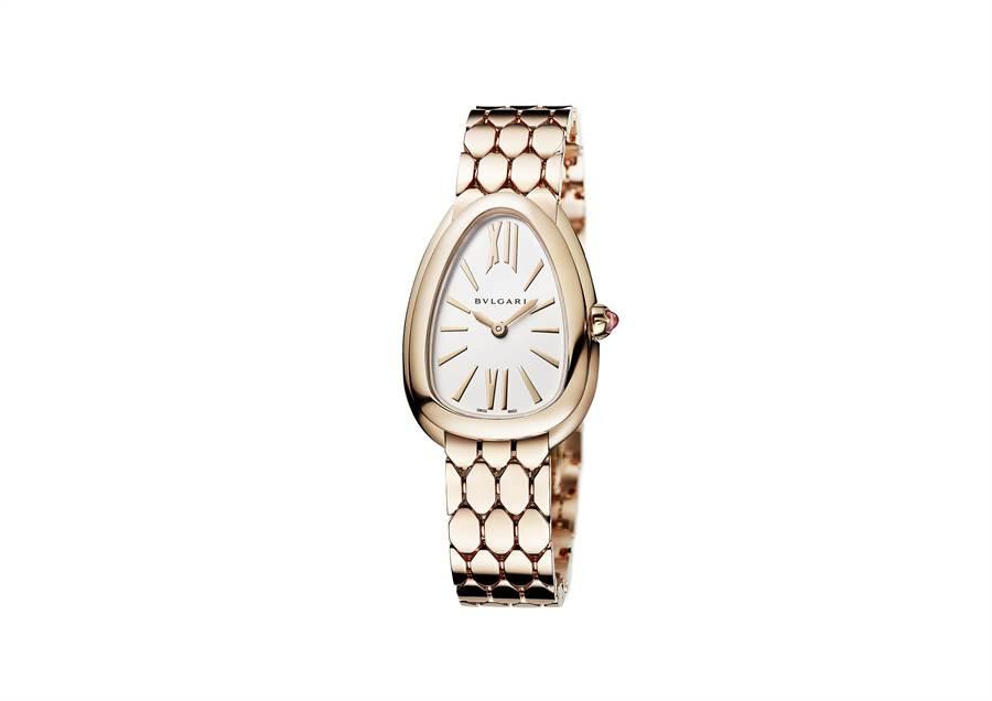 寶格麗SERPENTI SEDUTTORI玫瑰金腕表,約71萬元。(BVLGARI提供)