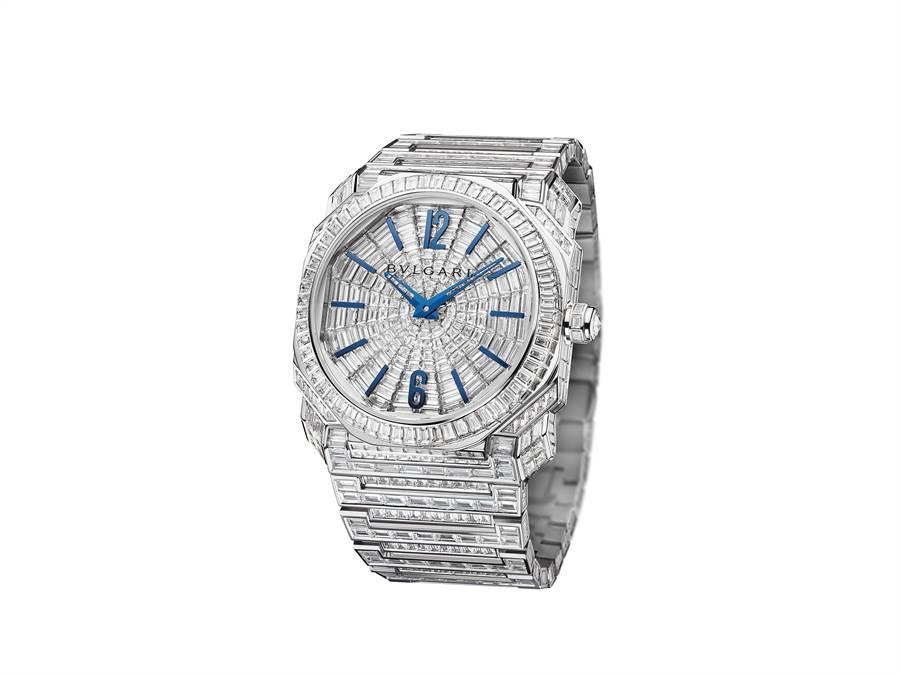寶格麗OCTO L'ORIGINALE滿鑽鑽表,約2941萬元。(BVLGARI提供)