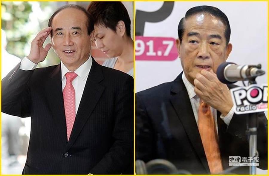 前立法院長王金平(左圖)和親民黨主席宋楚瑜(右圖)。(本報系資料照片)