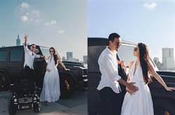 結婚4年做人成功!蔡詩芸曬絕美孕照 王陽明撫肚對望甜爆