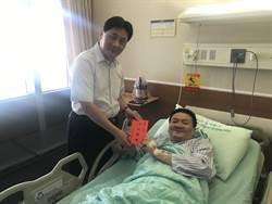 中和勇警小隊長江明松撞斷右腳 忍痛逮通緝犯