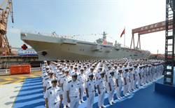兩棲攻擊艦首艦下水 陸國防部:增添十一節日氣氛