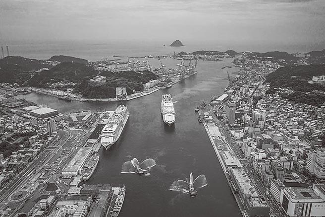 鳥瞰基隆港。(圖:基隆港務分公司)