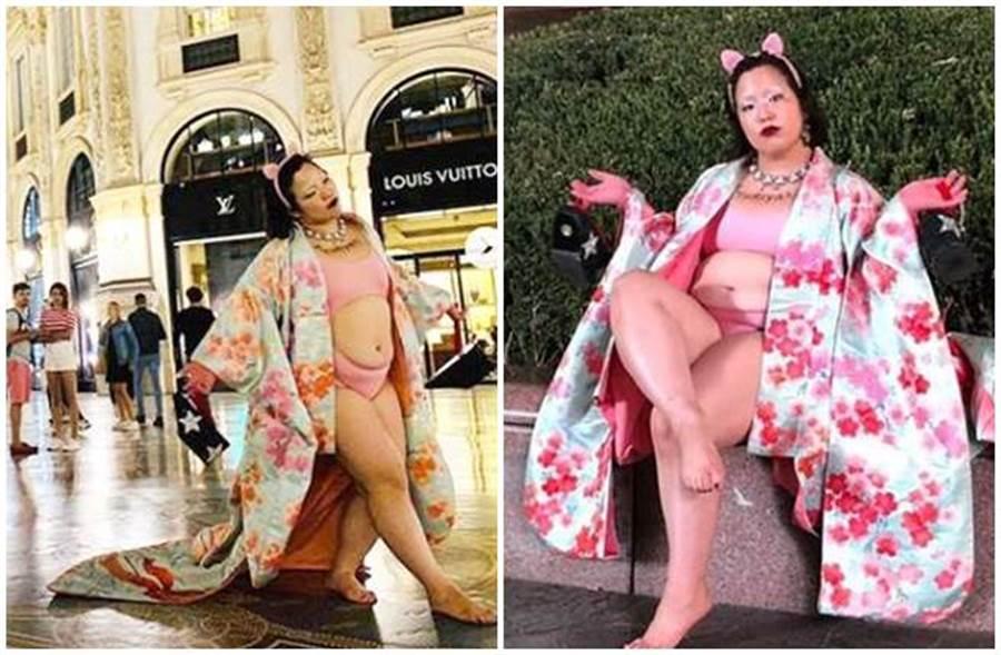 日本搞笑藝人吉田有里,當眾露出內衣褲引發網友砲轟。(圖/吉田有里IG)