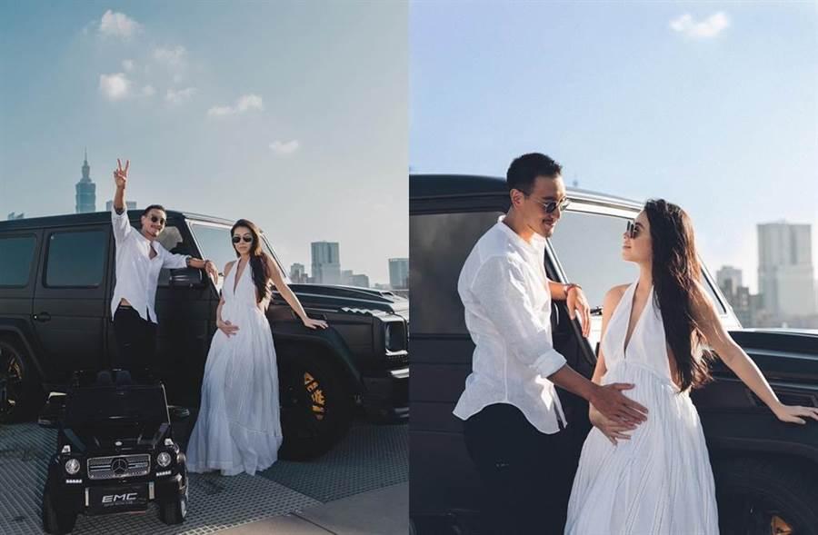 蔡詩芸和王陽明即將當爸。(圖/翻攝自臉書)