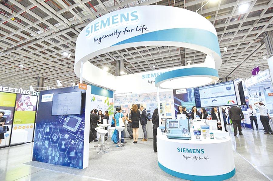西門子展示半導體產業鏈數位化解決方案。圖/西門子提供