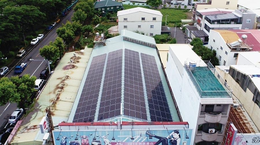 天晴能源建置的太陽能電廠。圖/天晴能源提供