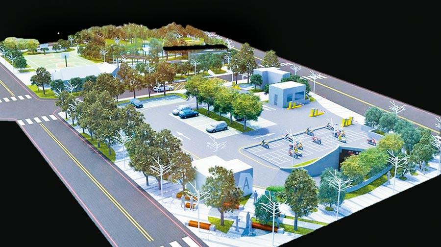 竹北市停6停車場正式動工,未來將增加車格至362格,便利駕駛人使用。(新竹縣政府提供/莊旻靜新竹傳真)