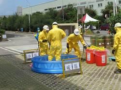 200公升化學品倒塌壓傷人!中港加工區防災演練逼真